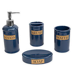 Words 4-Piece Bath Ensemble in Blue