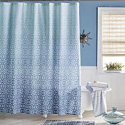 Daya Shower Curtain in Blue