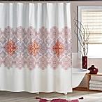 Veneto Shower Curtain in Crimson