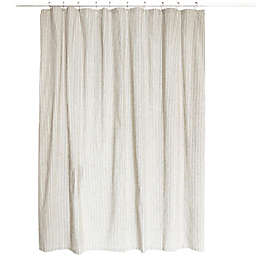 Park B. Smith Farmhouse Ticking Striped 72-Inch x 72-Inch Shower Curtain in Cream/Black