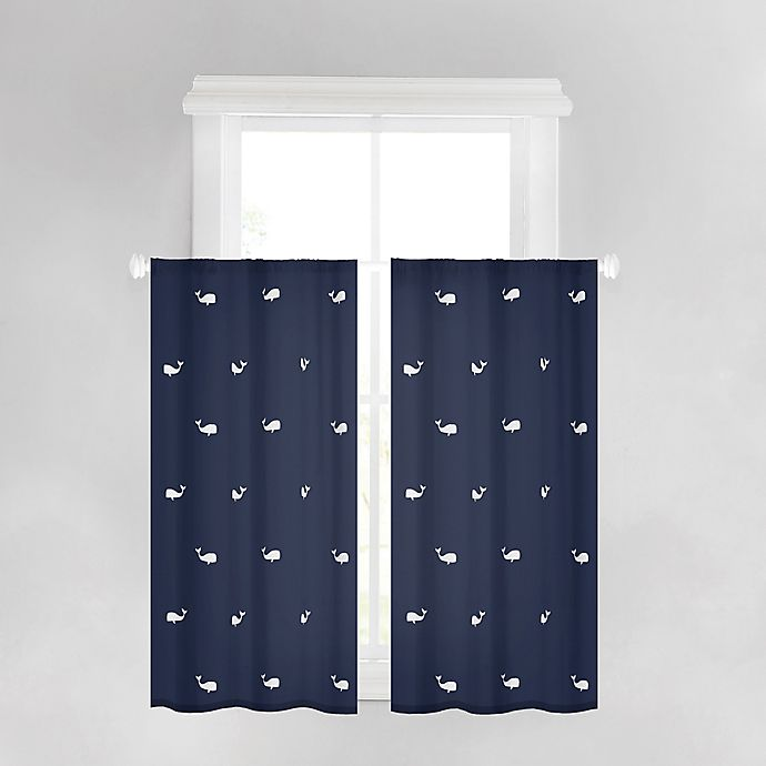 Alternate image 1 for Anchors Away 45-Inch Bath Window Curtain Panel in Navy