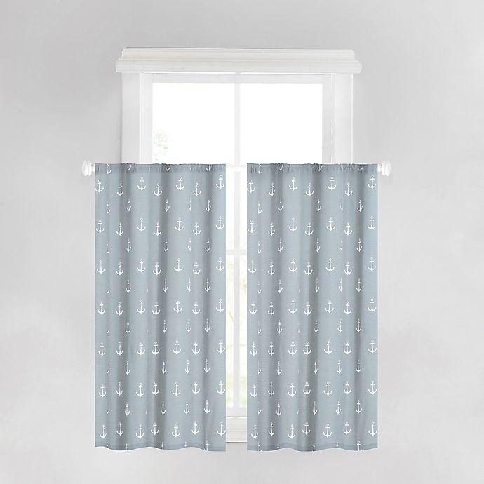 Anchors Away 45-Inch Bath Window Curtain Panel In Spa Blue