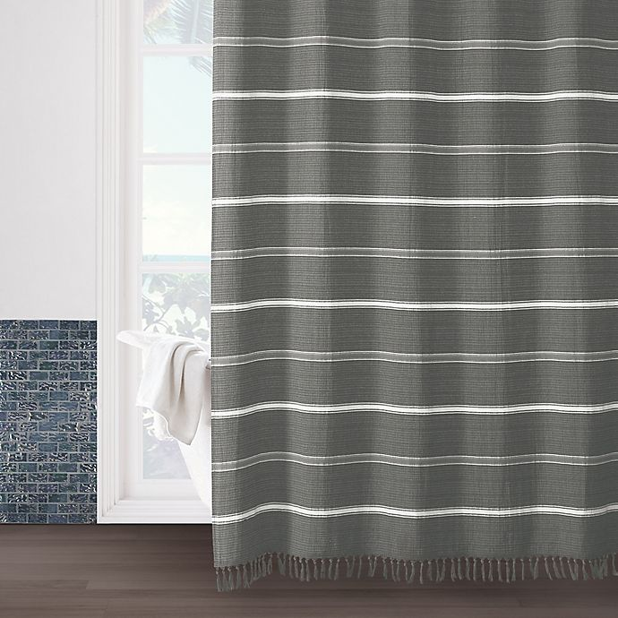 Alternate image 1 for Naomi 72-Inch x 72-Inch Shower Curtain in Grey