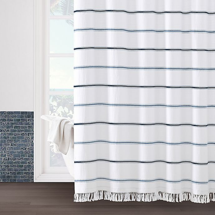 Alternate image 1 for Naomi 72-Inch x 84-Inch Shower Curtain in White
