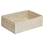 Biscayne Rattan Vanity Tray in White Wash