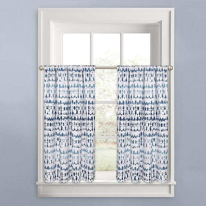 Alternate image 1 for Colordrift Raindance Window Curtain Tier Pair in Indigo