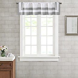 Wamsutta® Hotel Border Window Valance in Grey