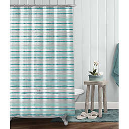 Pebble Stripe Shower Curtain In Aqua