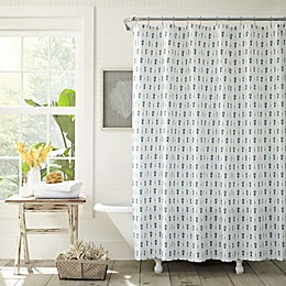 Tommy Bahama® Pineapple Pinstripe Shower Curtain in Indigo