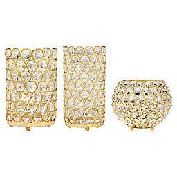 Godinger Glam Crystal Tea Light Candle Holder Collection