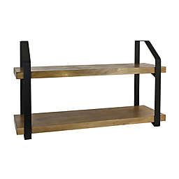 Bee & Willow™ Home 23.75-Inch x 13.75-Inch Wood/Metal Art Ledge in Brown