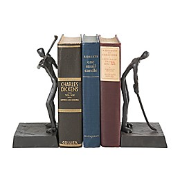 Danya B. Golfers Playing Iron Bookends in Brown (Set of 2)