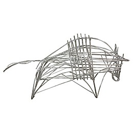 Moe's Home Collection Metal Bull Sculpture in Silver