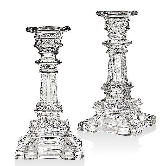 Alternate image 1 for Godinger Eiffel Tower 6-Inch Candlestick Holders (Set of 2)