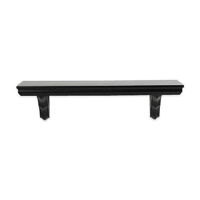 Alternate image 1 for Classic Wooden Bracket Shelf in Black