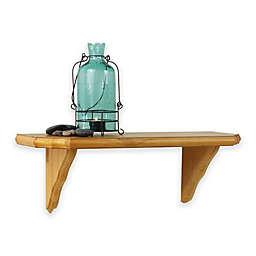 Venezia Wooden Bracket Shelf in English Oak