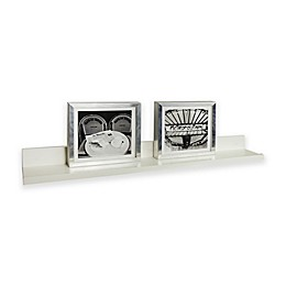 35.5-Inch x 4.5-Inch Floating Picture Ledge Shelf in White