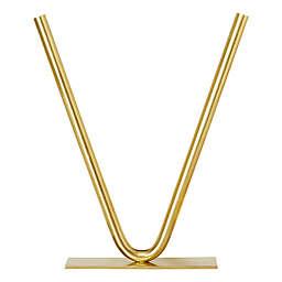 Madison Park Signature Hera Tube Vase in Gold