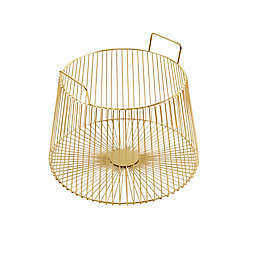 Madison Park Signature Whilshire Basket in Gold