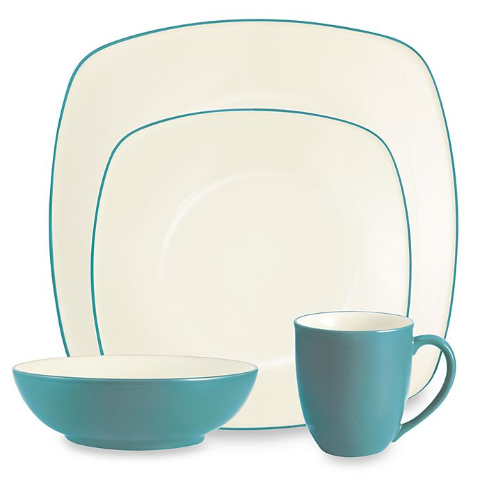 Alternate image 1 for Noritake® Colorwave Square 4-Piece Place Setting in Turquoise