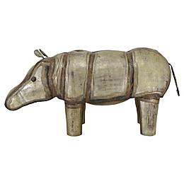 Moe's Home Collection Iron Hippopotamus Figurine in Antique