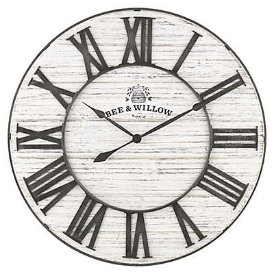 Bee & Willow™ Home 26-Inch White Wash Wall Clock
