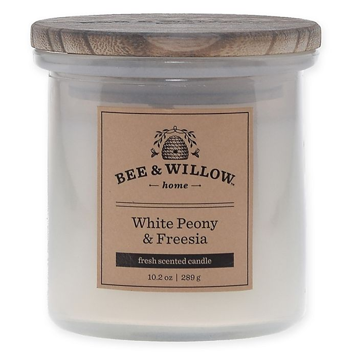Alternate image 1 for Bee & Willow™ Home Peony Freesia 10.2 oz. Jar Candle