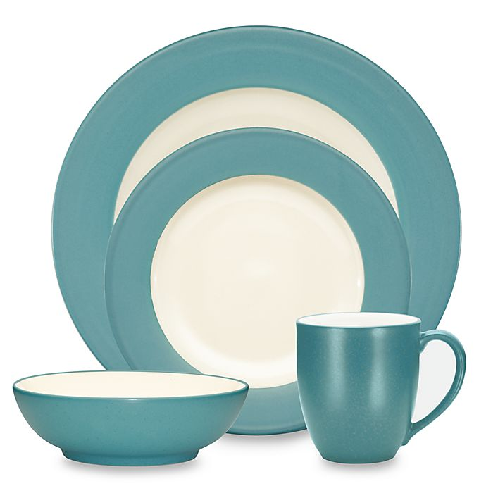 Alternate image 1 for Noritake® Colorwave Rim Dinnerware Collection in Turquoise