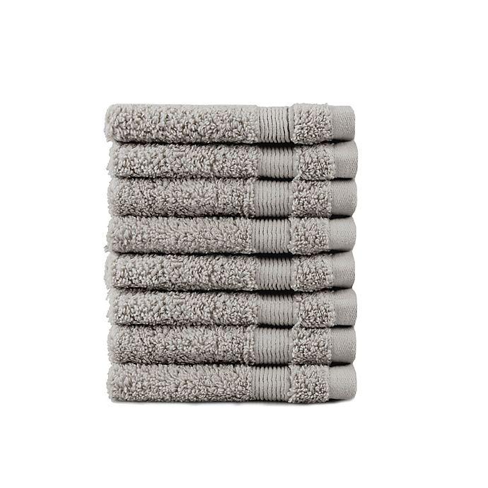 Alternate image 1 for SALT® Washcloths in Grey (Set of 8)
