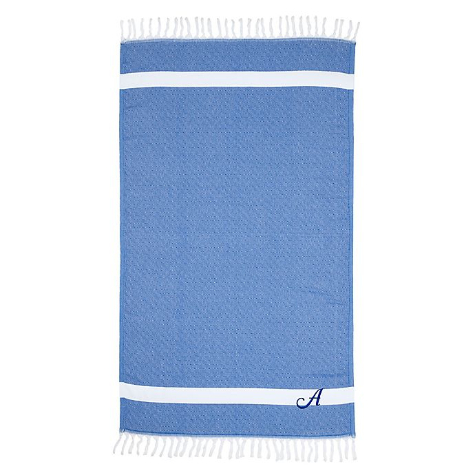 Alternate image 1 for Linum Home Textiles Diamond Weave Pestemal Beach Towel in Royal Blue