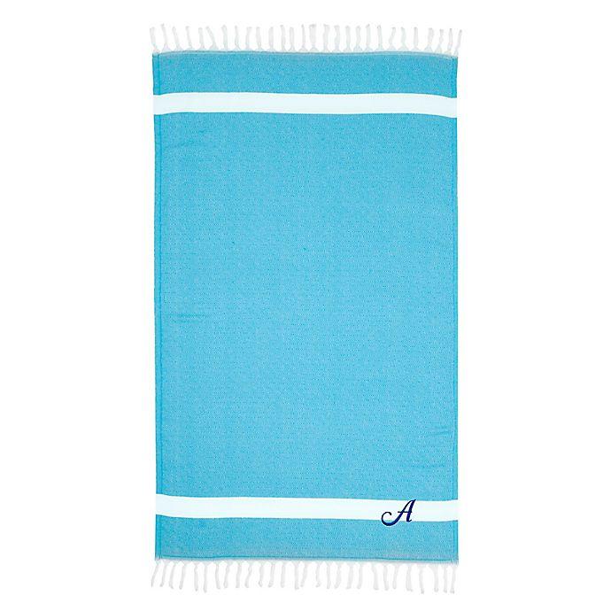 Alternate image 1 for Linum Home Textiles Diamond Weave Pestemal Beach Towel in Turquoise