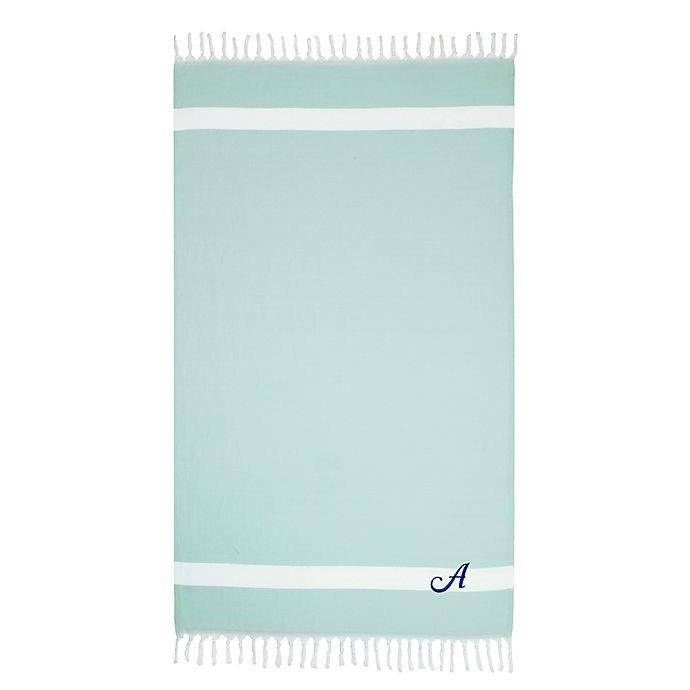Alternate image 1 for Linum Home Textiles Diamond Weave Pestemal Beach Towel in Soft Aqua