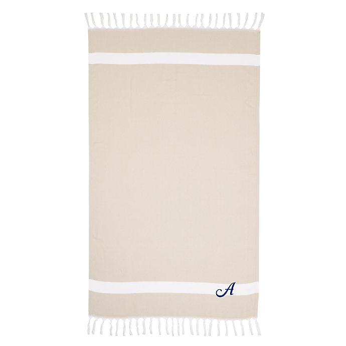 Alternate image 1 for Linum Home Textiles Diamond Weave Pestemal Beach Towel in Beige