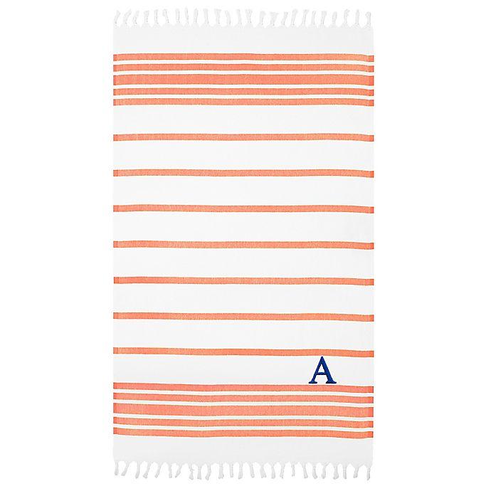 Alternate image 1 for Linum Home Textiles Herringbone Pestemal Beach Towel in Orange/White