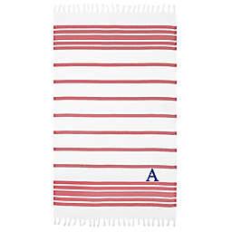 Linum Home Textiles Herringbone Pestemal Beach Towel in Red/White