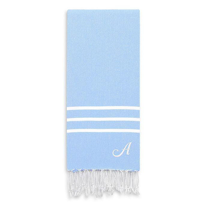 Alternate image 1 for Linum Home Textiles Alara Pestemal Beach Towel in Sky Blue