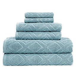 Gemstone Jacquard 6-Piece Towel Set