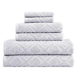 Gemstone Jacquard 6-Piece Towel Set in Diamond