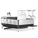 simplehuman® Steel Frame Dish Rack with Wine Glass Holder
