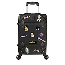 ED Ellen DeGeneres Creston 19-Inch Hardside Spinner Carry On Luggage in Black