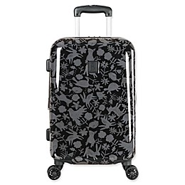 ED Ellen DeGeneres Laurel 19-Inch Hardside Spinner Carry On Luggage in Black/Grey