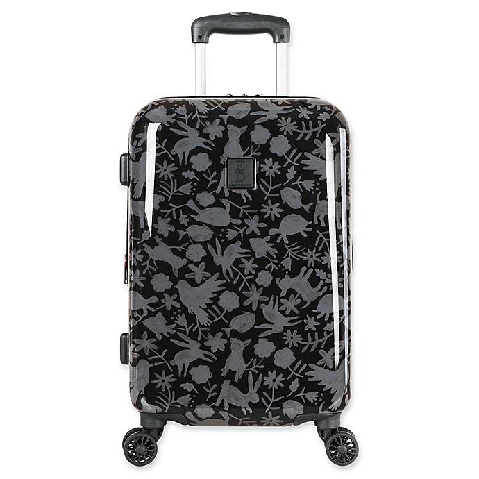 Alternate image 1 for ED Ellen DeGeneres Laurel 19-Inch Hardside Spinner Carry On Luggage in Black/Grey