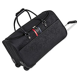 ED Ellen DeGeneres Love Rolling Duffle Bag in Black