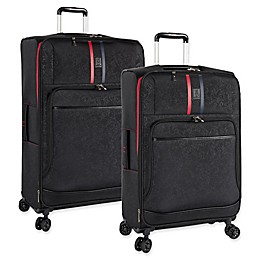 ED Ellen DeGeneres Love Checked Luggage in Black