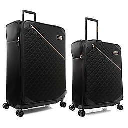 Marc New York Mulsanne Spinner Checked Luggage in Black
