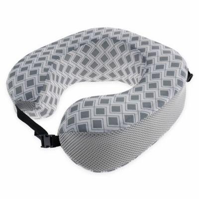 New York Geometric Travel Pillow in