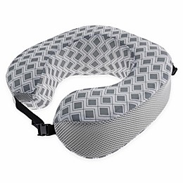 Capelli New York Geometric Travel Pillow in Grey