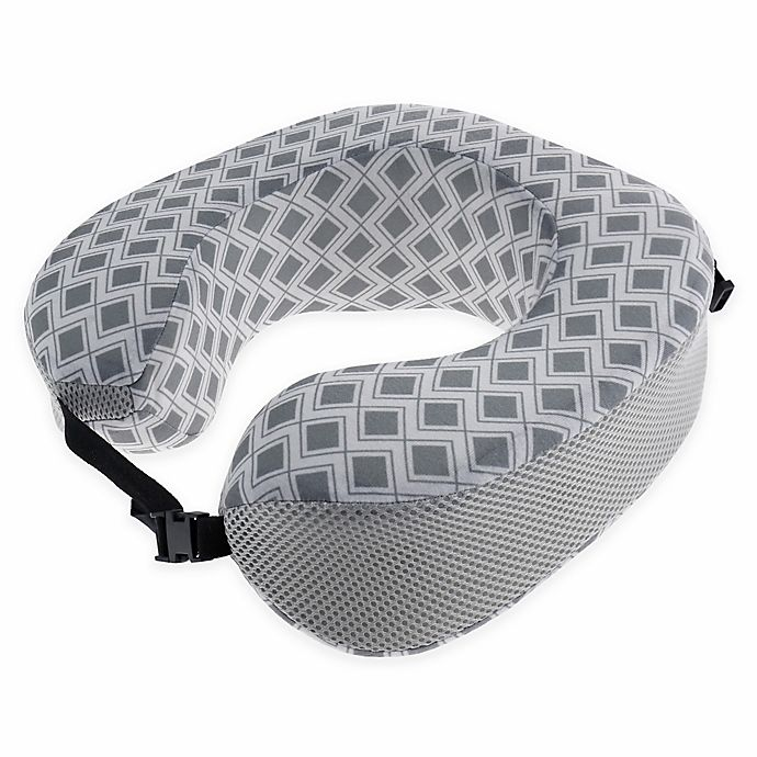 Alternate image 1 for Capelli New York Geometric Travel Pillow in Grey