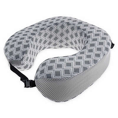 Capelli New York Geometric Travel Pillow in Grey