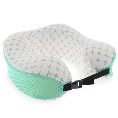 Capelli New York Geometric Travel Pillow in Natural